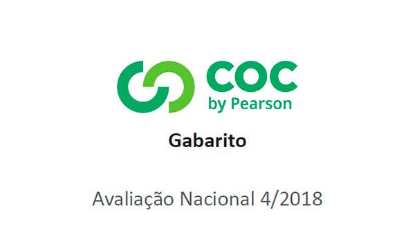 Sistema COC (4º ao 9º ano) – Quarto Simulado/2018 – Gabarito para conferência