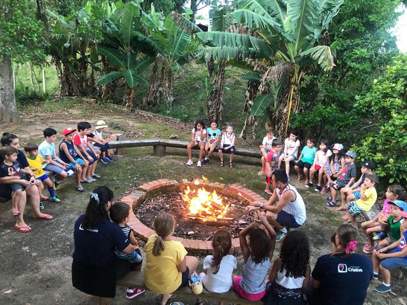 Colônia de Férias: Sítio, recreação, Ciências, culinária e marshmallow na fogueira