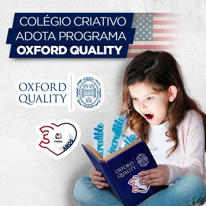 Colégio Criativo adota programa Oxford Quality